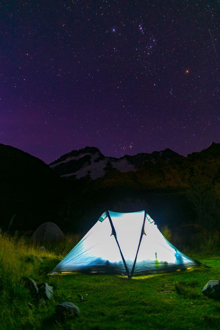 Camping in Mount Cook National Park