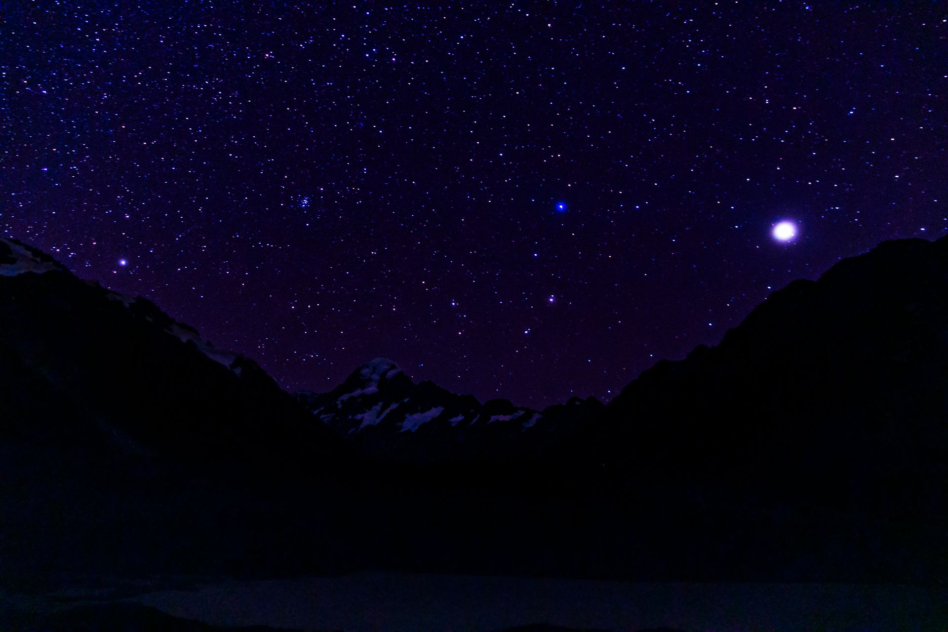 Night time over Mount Cook