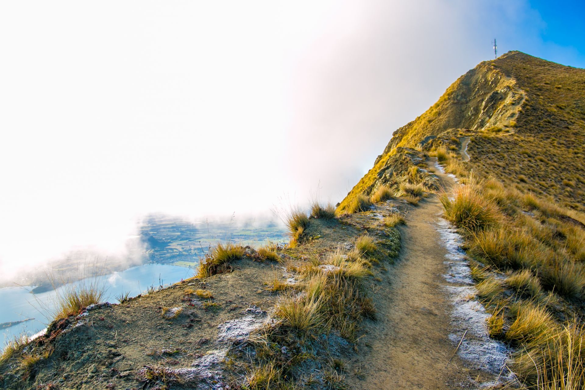 Approaching the summit, Roys Peak